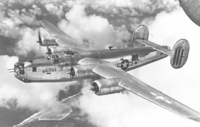 "B-24M Liberator ""Bolivar Jr."" in flight"