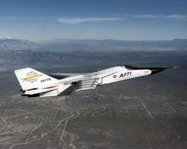 F-111 operated by NASA, in flight
