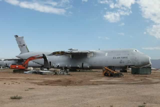 C-5A Galaxy reclamation at Davis-Monthan Air Force Base AMARG