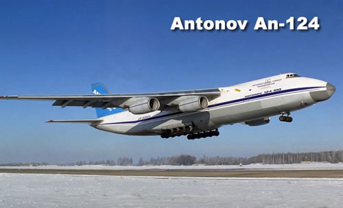 Antonov 124-100 Ruslan, four engines under the wings