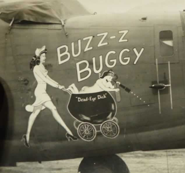 "B-24 Liberator ""Buzz-Z Buggy"" nose art"