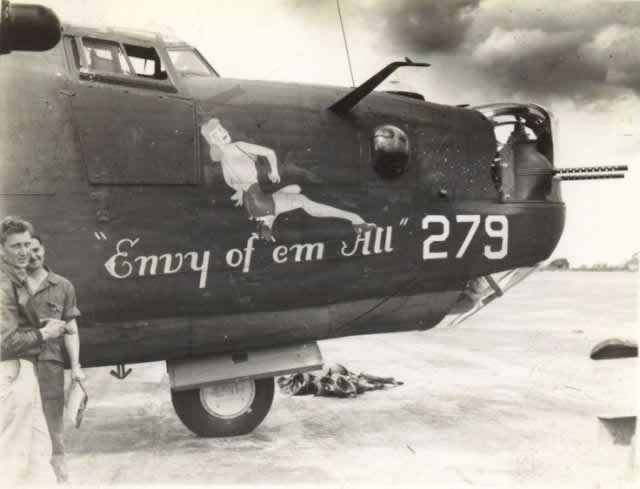 "B-24 Liberator ""Envy of 'em All"" nose art"