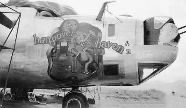 "B-24 Liberator ""Hangover Haven II"" nose art"