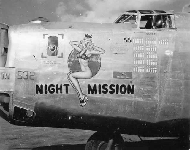 "B-24 Liberator ""Night Mission"" nose art"
