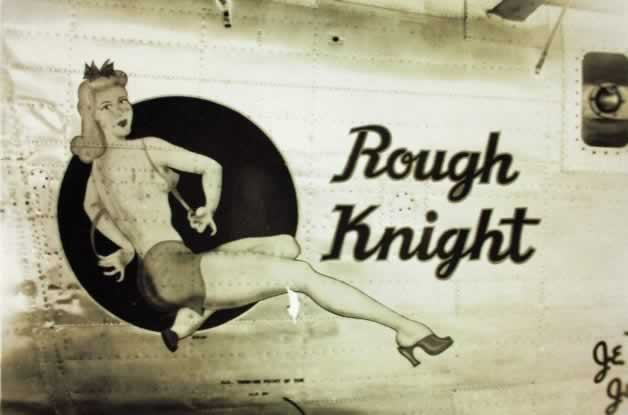 "B-24 Liberator ""Rough Knight"" nose art"