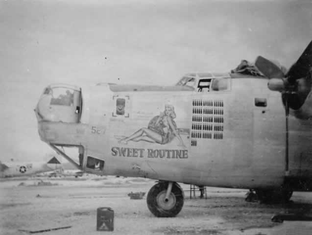 "B-24 Liberator ""Sweet Routine"" nose art"