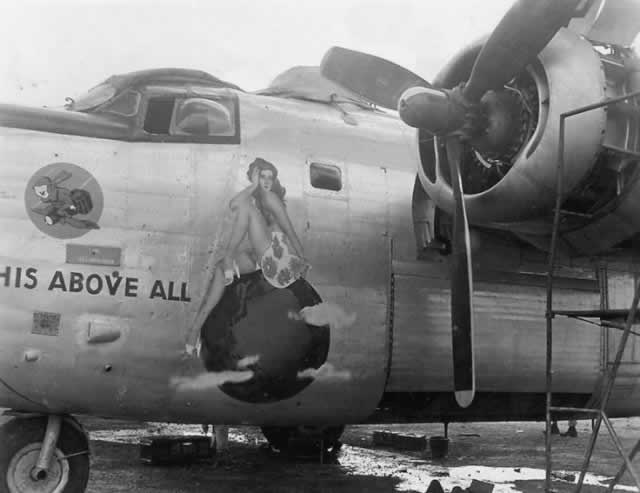 "B-24 Liberator ""This Above All"" nose art"