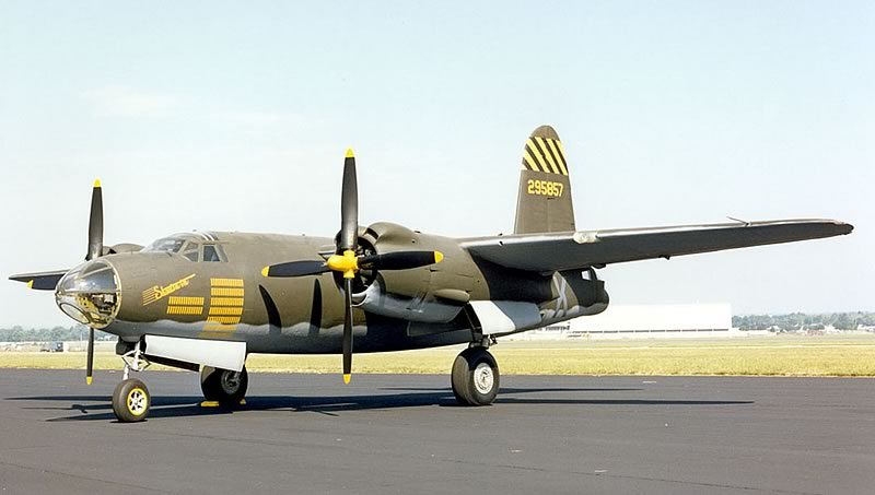 "B-26G Marauder ""Shootin In"" S/N 43-34581 at the Museum of the United States Air Force in Dayton, Ohio"