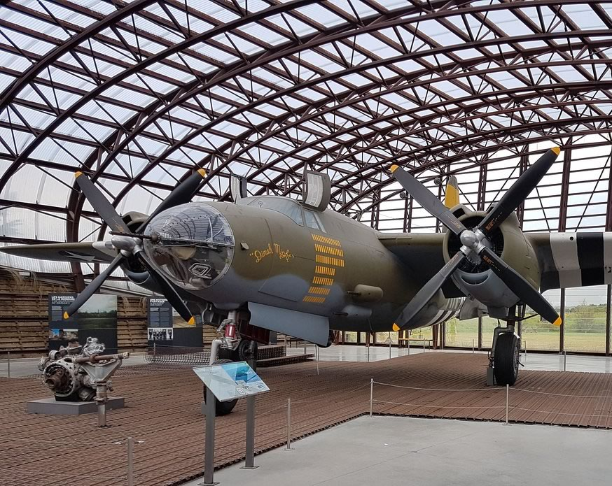 "B-26 Marauder ""Dinah Might"", S/N 44-68219, on display at the Utah Beach Museum in France"