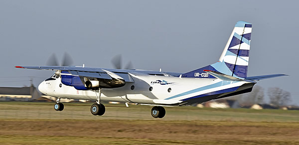 Antonov An-26B of Vulcan Air, Registration Number UR-CQD