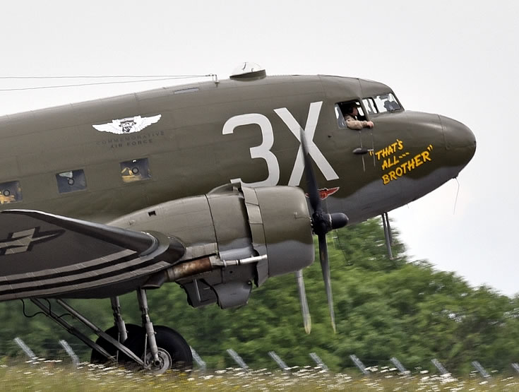 "C-47 Skytrain ""That's All, Brother"", S/N 42-92847, Registration N47TB, Cherbourg, France, June of 2014"