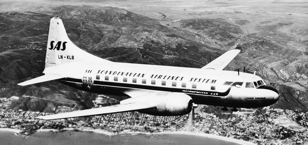 Convair 440 of the Scandinavian Airlines System