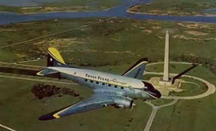 DC-3 of Trans Texas Airways