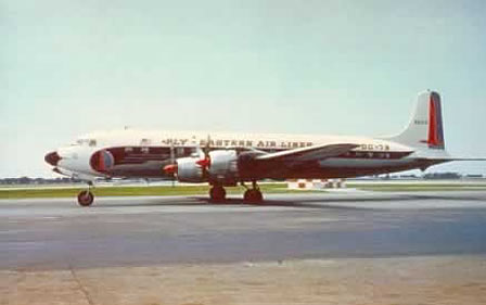 DC-7B of Eastern Airlines