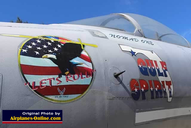 "Example of modern-day nose art, on the F-15 ... ""Let's Roll"""