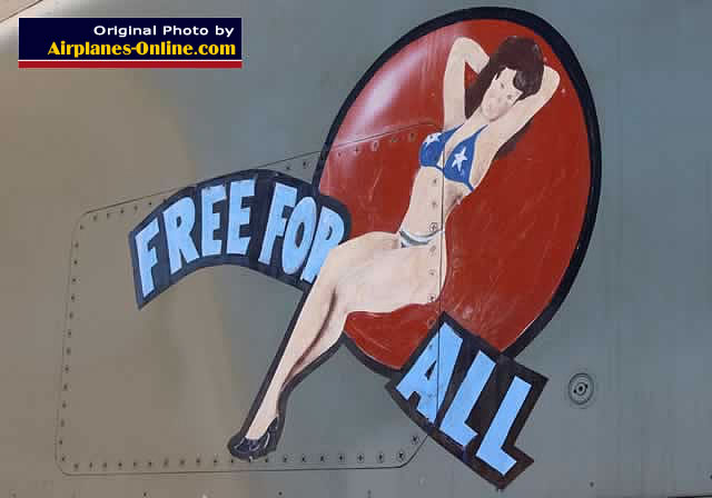 """Free for All"" nose art on FB-111A Aardvark, S/N 80248"