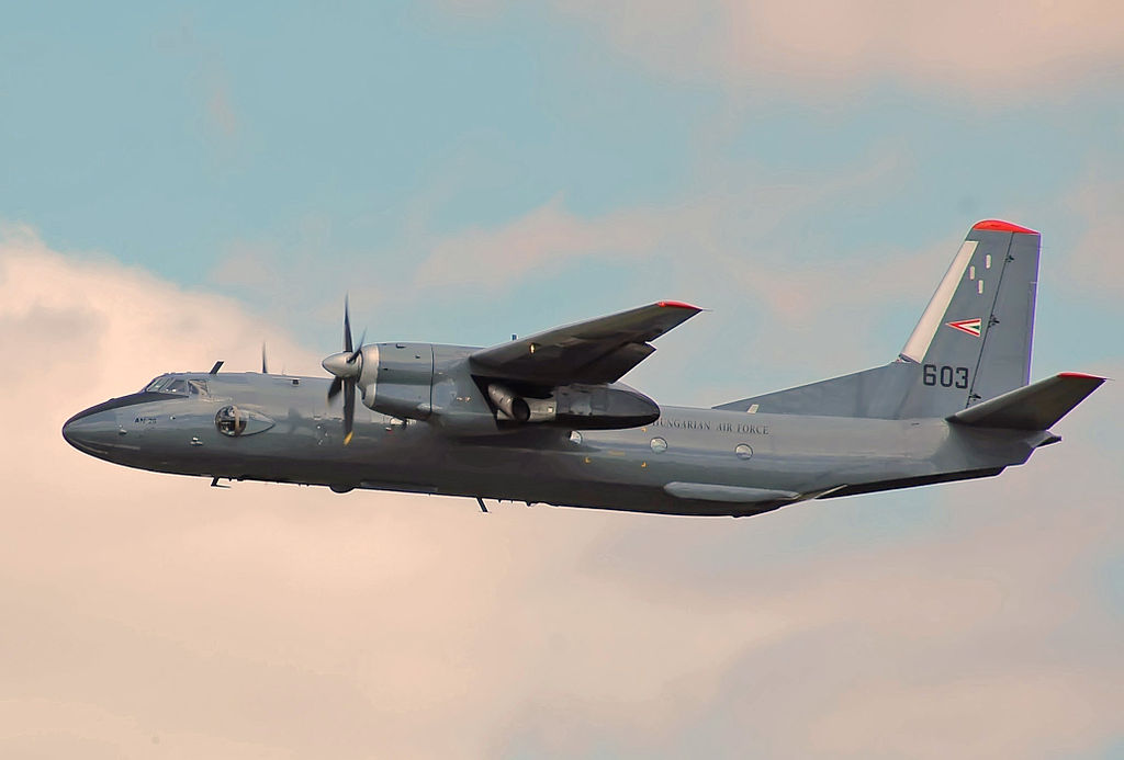 Antonov An-26 No. 603 of the Hungarian Air Force in flight