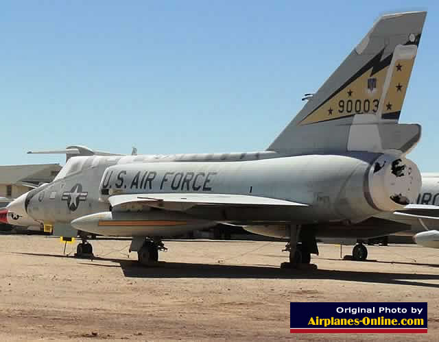 F-106A Delta Dart S/N 59-0003 at the Pima Air Museum in Tucson, Arizona