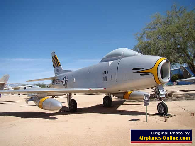 North American F-86H Sabre S/N 53-1525 at the Pima Air & Space Museum