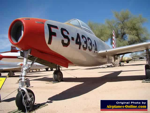 Republic F-84C Thunderjet S/N 47-1433, Buzz Number FS-433-A, at the Pima Air Museum in Tucson