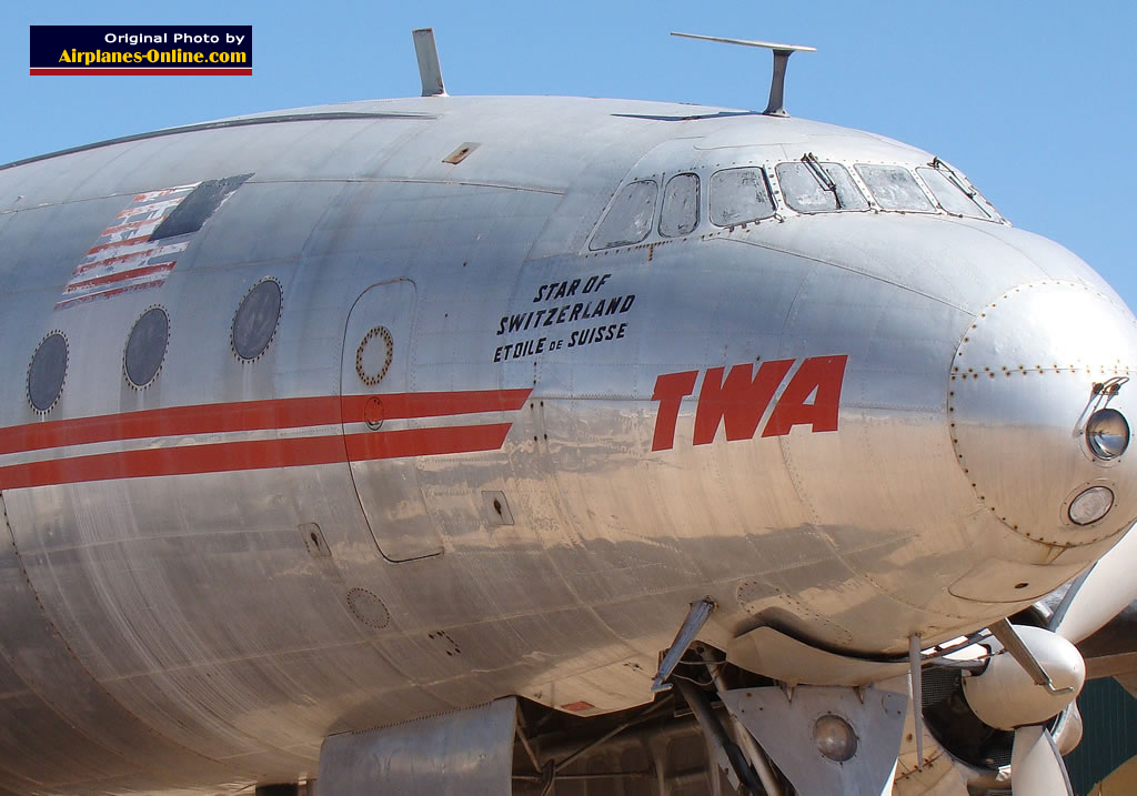 "Trans World Airlines ""Star of Switzerland"" at the Pima Air & Space Museum in Tucson AZ"