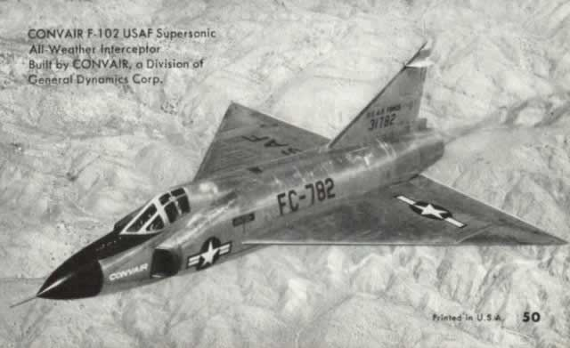 Convair F-102 Delta Dagger, S/N 31782, Buzz Numberr FC-782, all-weather supersonic interceptor, in flight