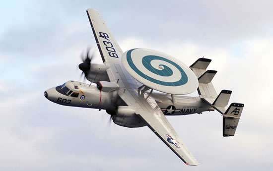 U.S. Navy E-2C Hawkeye in flight