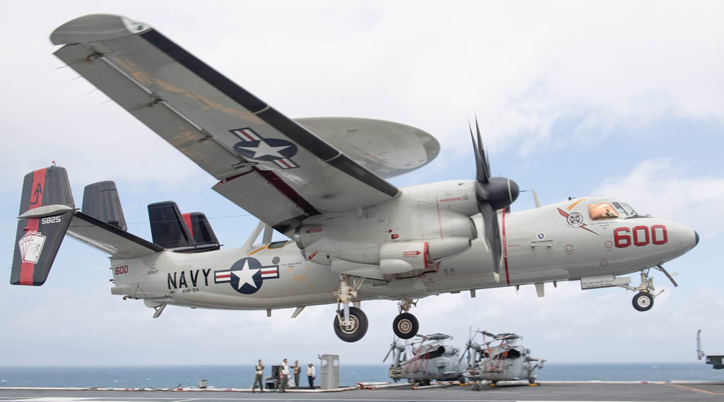 Navy E-2 Hawkeye carrier operations
