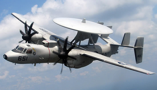 E-2 Hawkeye in flight